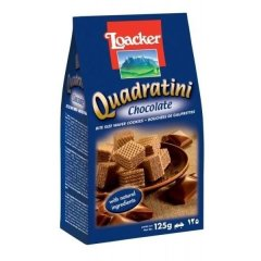 Вафлі Loacker Quadratini Chocolate 125 г 12101
