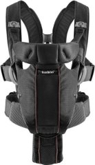 Рюкзак-кенгуру Baby Bjorn BB Baby Carrier Miracle Mesh чорний 096002, Чорний