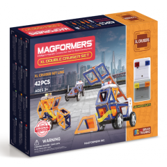 Магнітний конструктор Magformers XL Double Cruiser Set, Суперкрейсер 42 деталі 706004