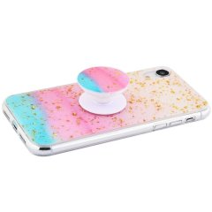 Чохол Confetti mramor case with pop socket iPhone Xs Max 20627