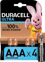 Лужні батарейки Duracell Ultra Power AAA 1.5В LR03 4 шт IMA01001452
