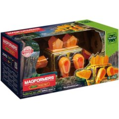 Магнітний конструктор Magformers Monster Dino Tego Set, 20 деталей 716001, Жовтий