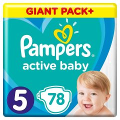 Підгузки Pampers Active Baby-Dry, розмір 5, Junior, 11-16 кг, 78 шт 81680841