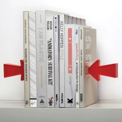 Тримач для книг Peleg Design Arrow Magnetic Bookend PE718, Червоний