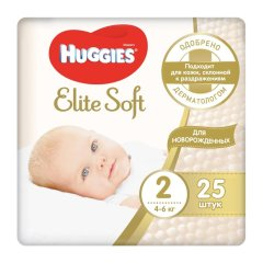 Підгузки Huggies Elite Soft 2 4-6 кг 25 шт Conv 9400121, 25