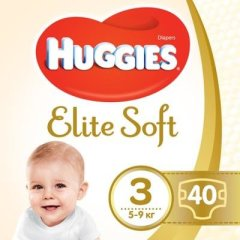 Підгузки Huggies Elite Soft Jumbo 3 5-9 кг 40 шт 9400878/9400875, 40