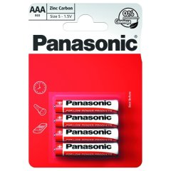 Батарейка Panasonic Red Zinc AAA BLI 4 Zinc-Carbon R03REL/4BP