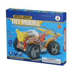 Конструктор металевий Same Toy Inteligent DIY Model, 243 елемента WC98AUt, Жовтий