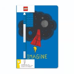 Блокнот з гелевою ручкою LEGO IMAGINE 4003063-52523, Блакитний